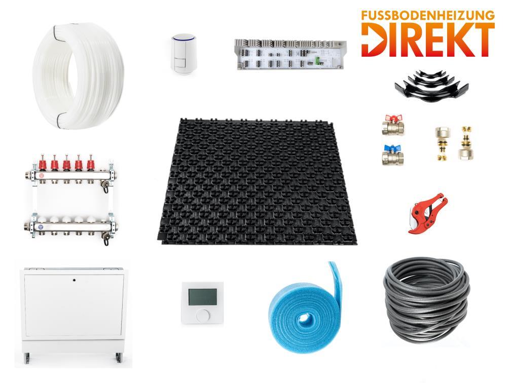 komplettsets noppensystem fu bodenheizung systeme fussbodenheizungdirekt online shop. Black Bedroom Furniture Sets. Home Design Ideas